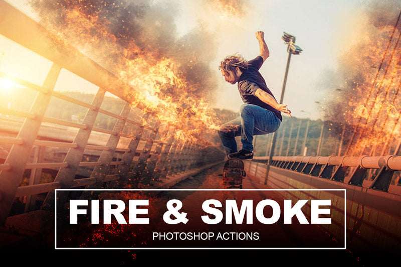 Fire and Smoke FX Photoshop Actions