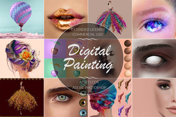 Digital Painting Assets for Adobe Photoshop