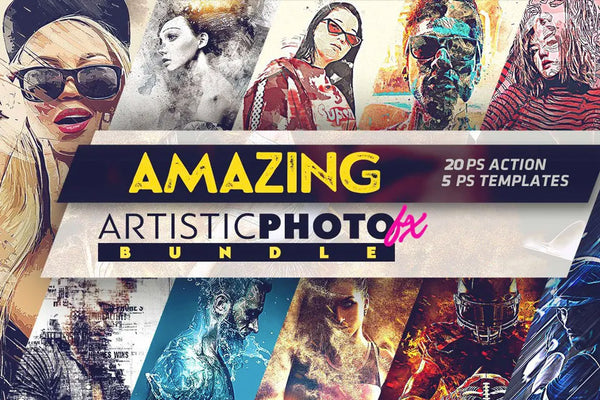 Amazing Artistic Photo Fx Photoshop Actions Collection