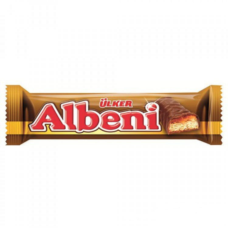 Ulker Albeni Milk Chocolate Coated Caramel and Biscuit 40gr