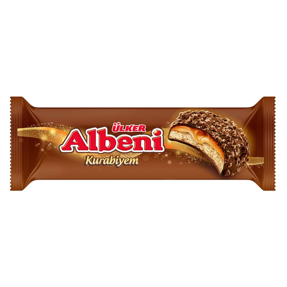 Ulker Albeni Milk Chocolate Coated Caramel and Biscuit 8 Pieces 170gr