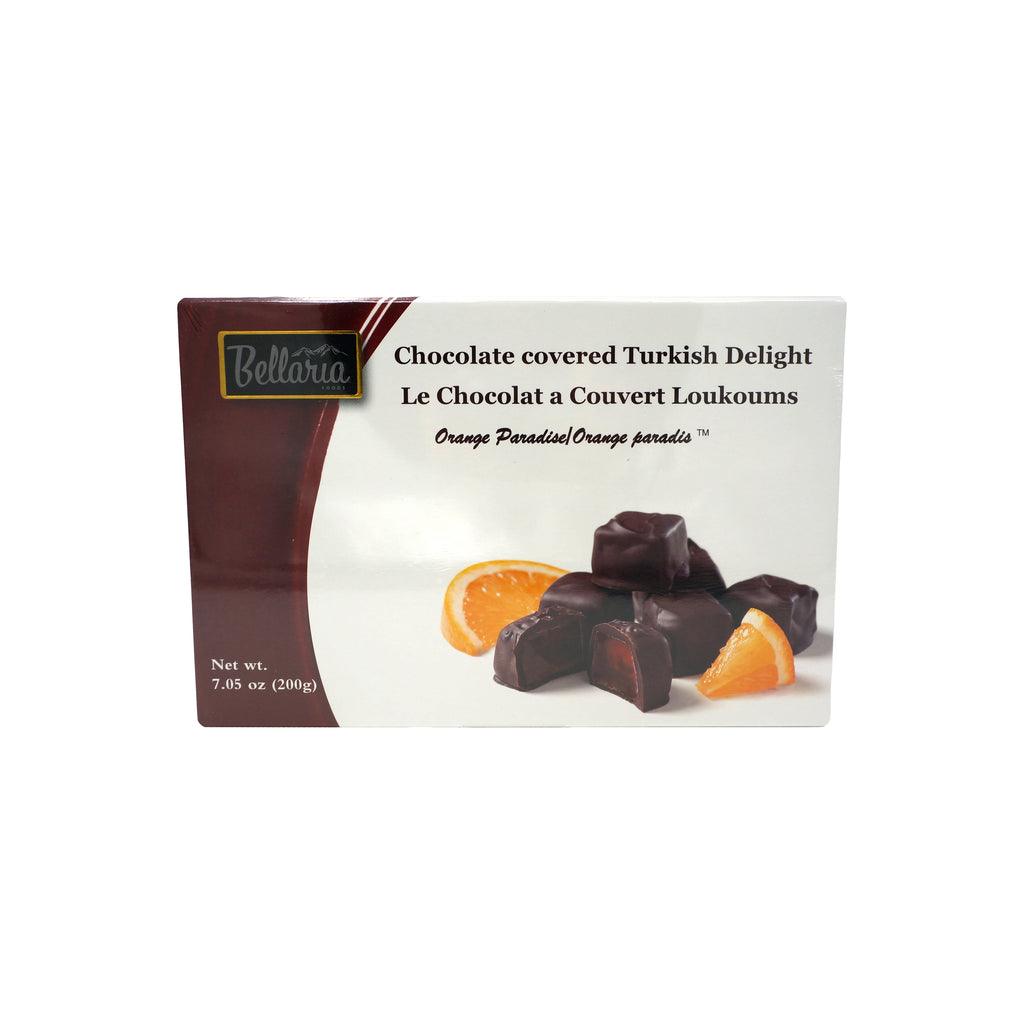 Bayco Chocolate Covered Orange Turkish Delight 200gr Gift Boxes
