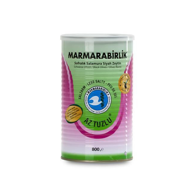 Marmarabirlik Less Salty Black Olive 800gr