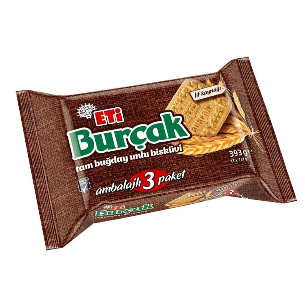 Eti Burcak Whole Wheat Cookie 3x131gr