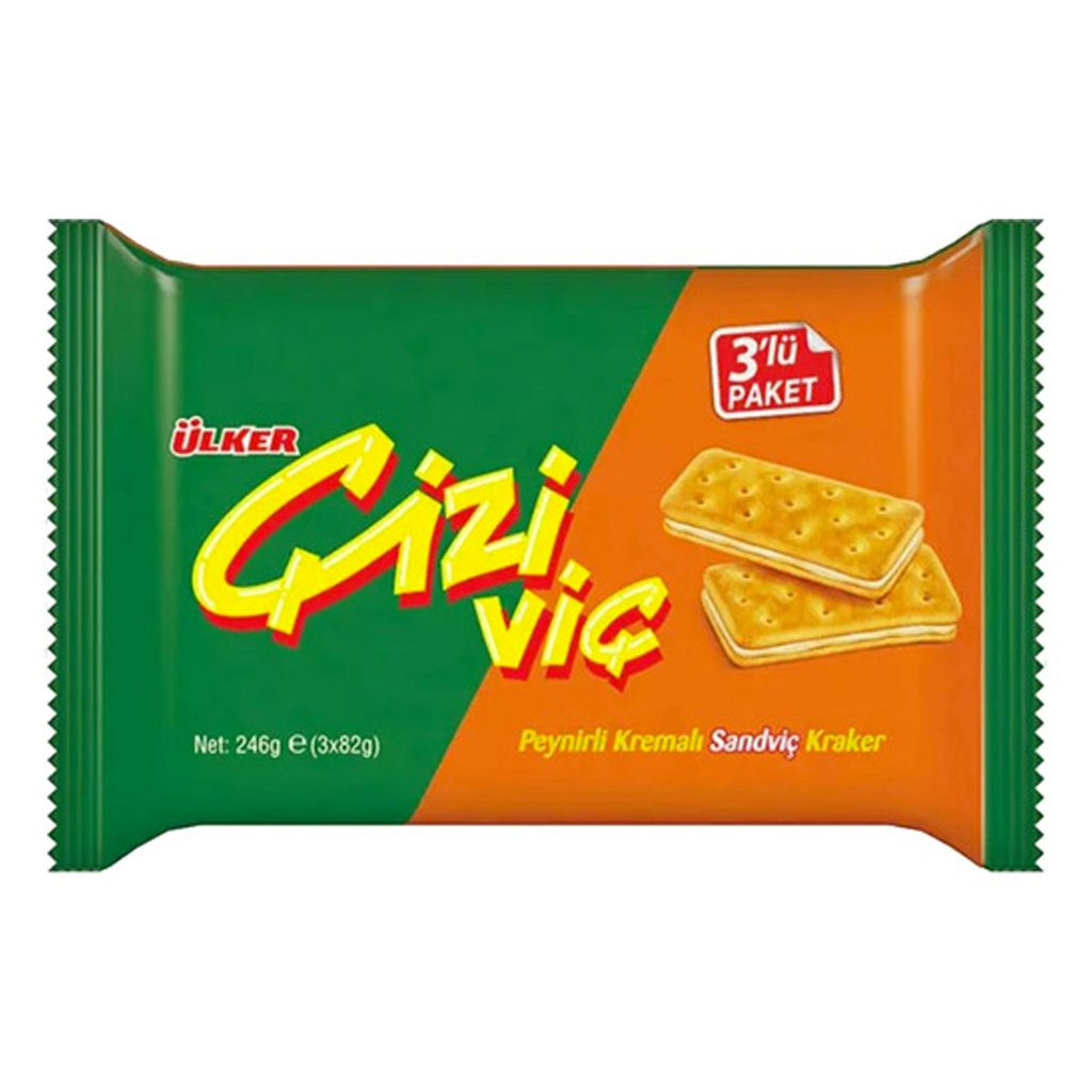 Ulker Cizivic Sandwich Crackers with Cheese 246gr (3x82gr)