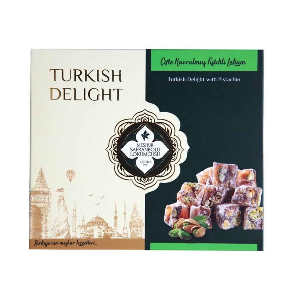 Safranbolu Turkish Delight with Double Roasted Pistachio 200gr