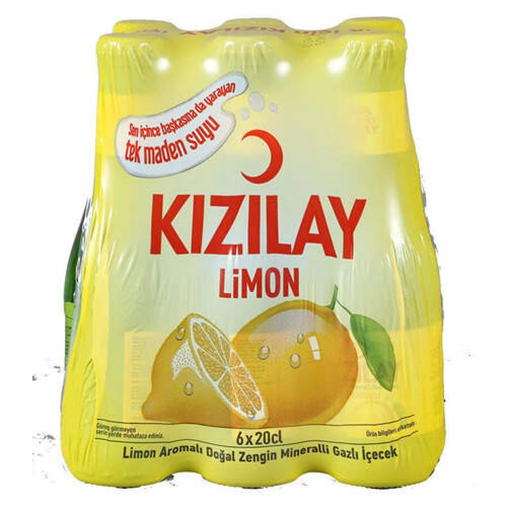 Kizilay Mineral Water with Lemon 200ml * 6