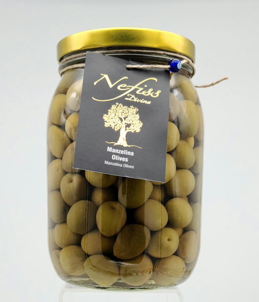 Nefiss Manzelina Green Olives 1.5L