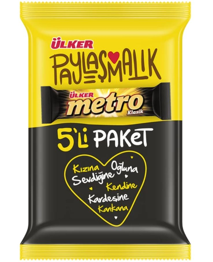 Ulker Metro 36gr Pack of 5