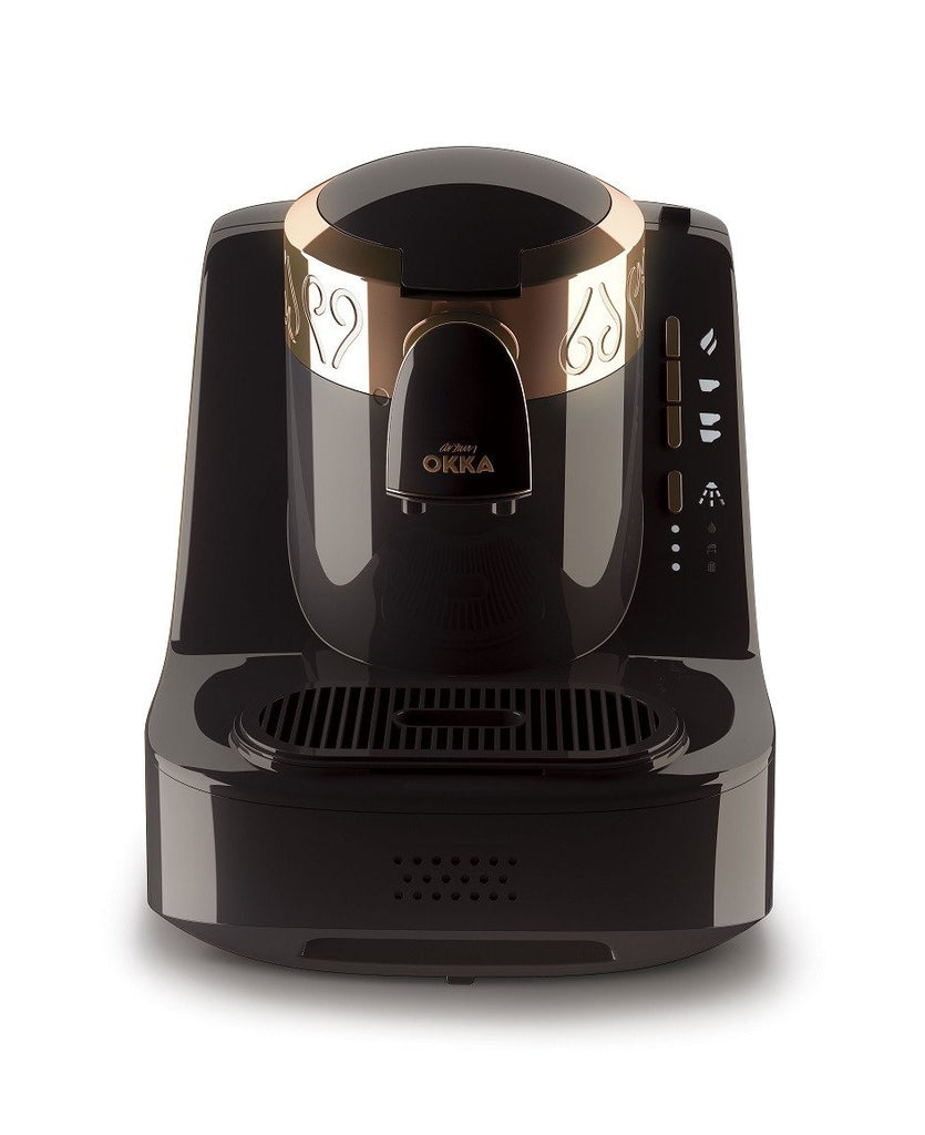 Arzum Okka Automatic Turkish Coffee Machine, 120V, Black/Gold