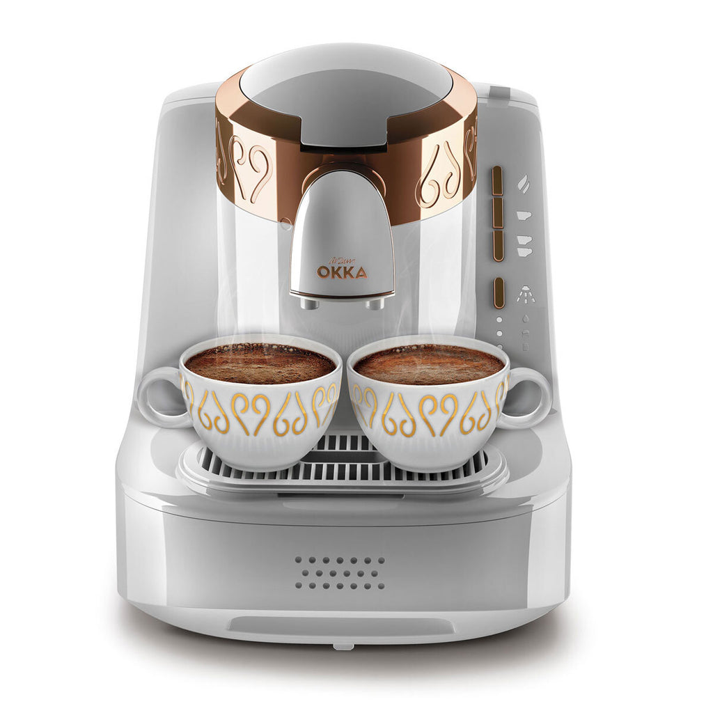 Arzum Okka Automatic Turkish Coffee Machine, 120V, White/Gold