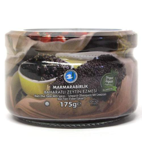 Marmarabirlik Black Olive Paste 175gr SPICY