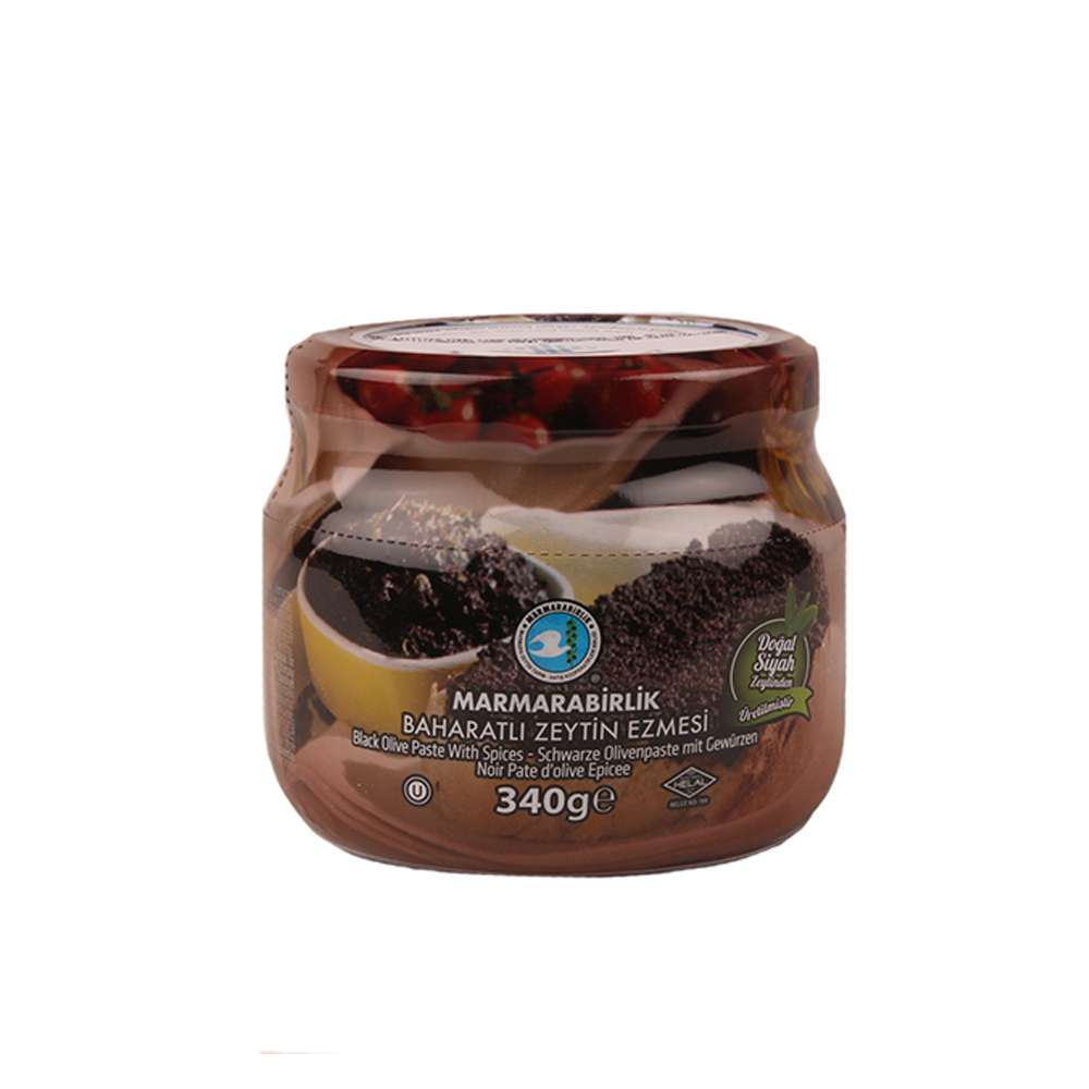Marmarabirlik Black Olive Paste 340gr SPICY