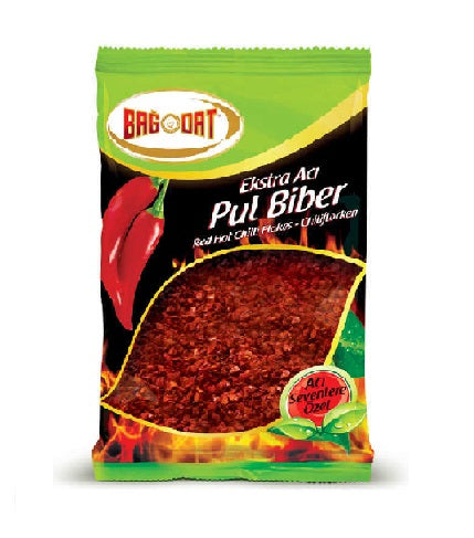 Bagdat Red Hot Chili Flakes (Extra Aci Pul Biber) 80gr