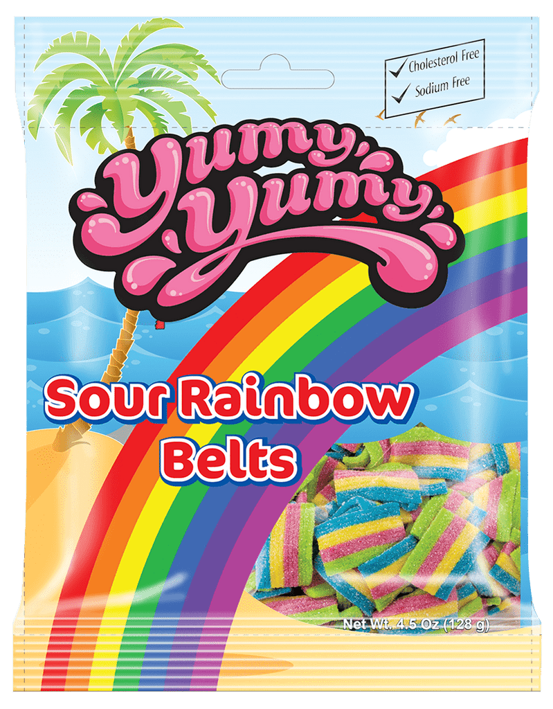 Yumy Yumy Sour Rainbow Belts 128gr