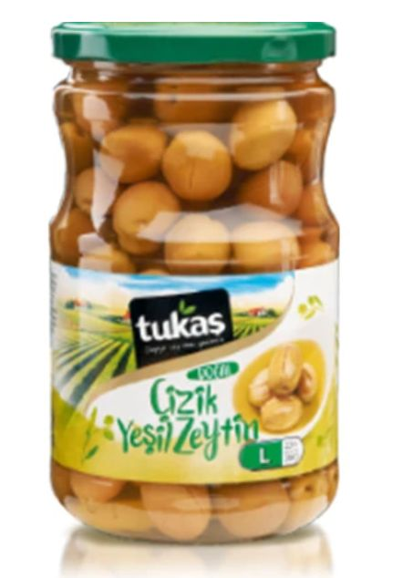 Tukas Green Olives Scratched 720gr L