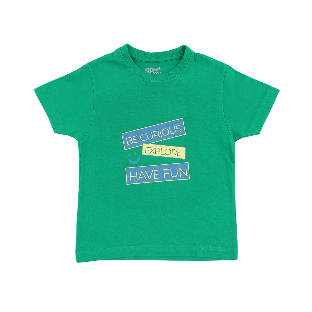 T-Shirt Verde Be Curious