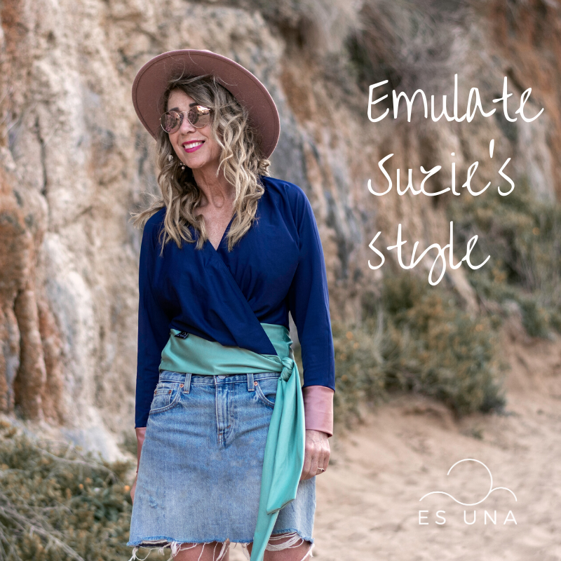 Stunning, but casual. Meet Suzie - wearing Es Una's new Crossover Top.