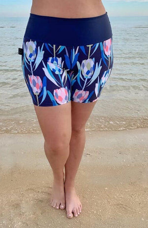Swim Shorts - Protea print on Amelia, size L