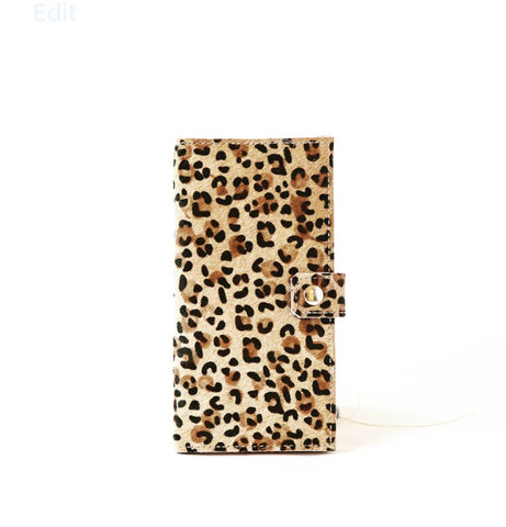 Slim Jim Wallet Hair on Hide Leopard
