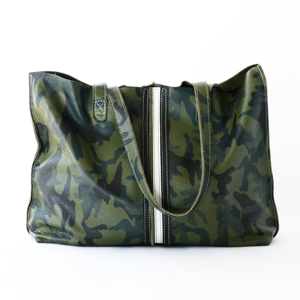 Tote Bag Camo Black/White Stripes