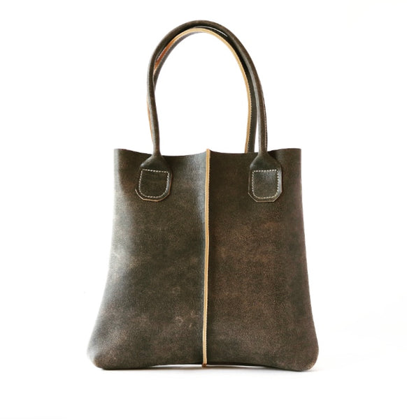 Shopper Tote in Distressed Charcoal Grey
