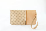 Wallet Clutch in Natural / Tan Perforated