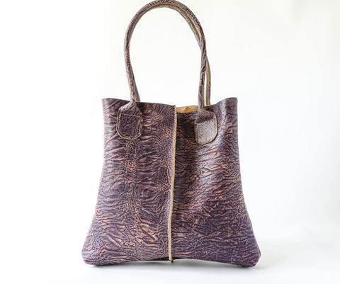 Shopper Tote in Super Crinkle Purple