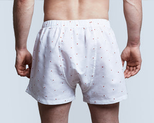Embroidered Linen Boxer Shorts