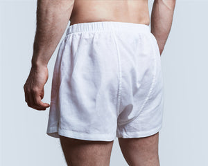 White Linen Boxer Shorts