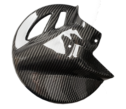 Carbon Fiber Front Brake Disc Guard - Kawasaki KX 15+