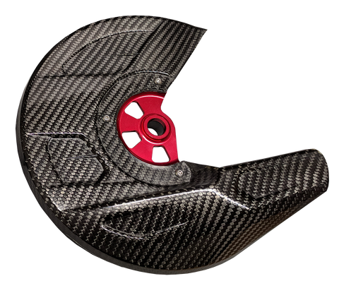 Carbon Fiber Front Brake Disc Guard Kit - Husqvarna 15-20 (TC/FC/TE/FE)