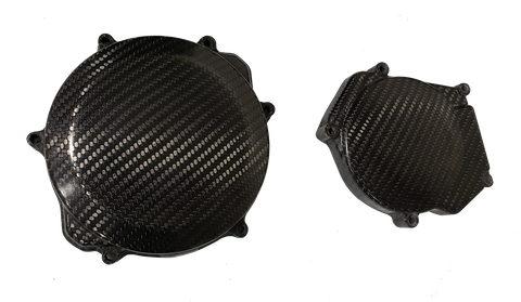 Carbon Fiber Clutch & Ignition Cover Set - Yamaha YZ250 99 - 20