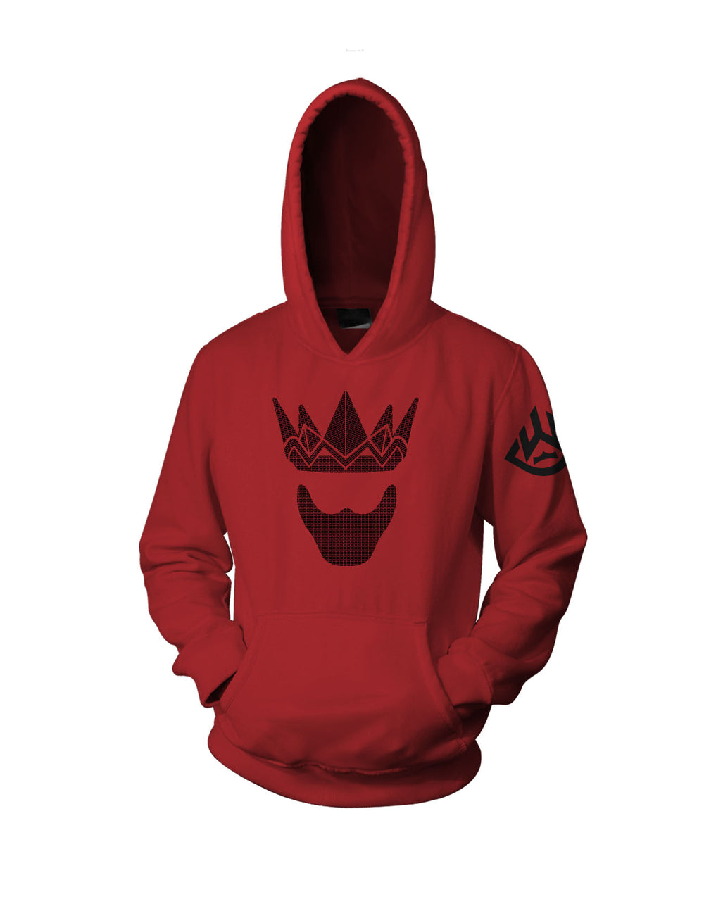 Gold Mask Hoodie (Black, Red)