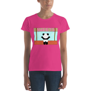 Panda Sweet Shop Women's Fashion Fit Short Sleeve T-Shirt