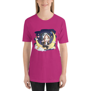 Panda Costumed Chibi Girl Short-Sleeve Unisex T-Shirt