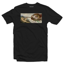 Load image into Gallery viewer, The Creation of Adam - Michelangelo T-shirt