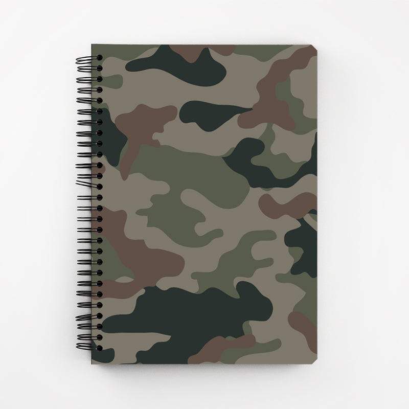 Dark Camouflage Notebook