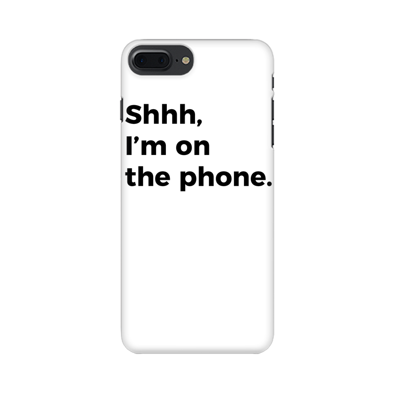 ON THE PHONE CASE (WHITE)