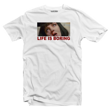 Load image into Gallery viewer, Life is boring Pulp Fiction T-shirt