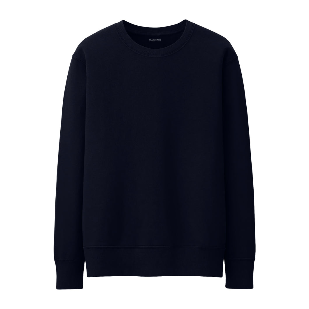 Navy Blue Plain Sweatshirt