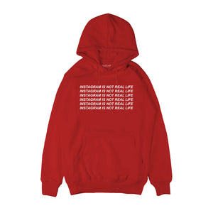 Instagram is not real life Hoodie