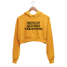 Load image into Gallery viewer, Written and Directed by Quentin Tarantino Crop Hoodie