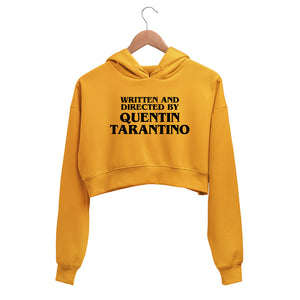 Written and Directed by Quentin Tarantino Crop Hoodie