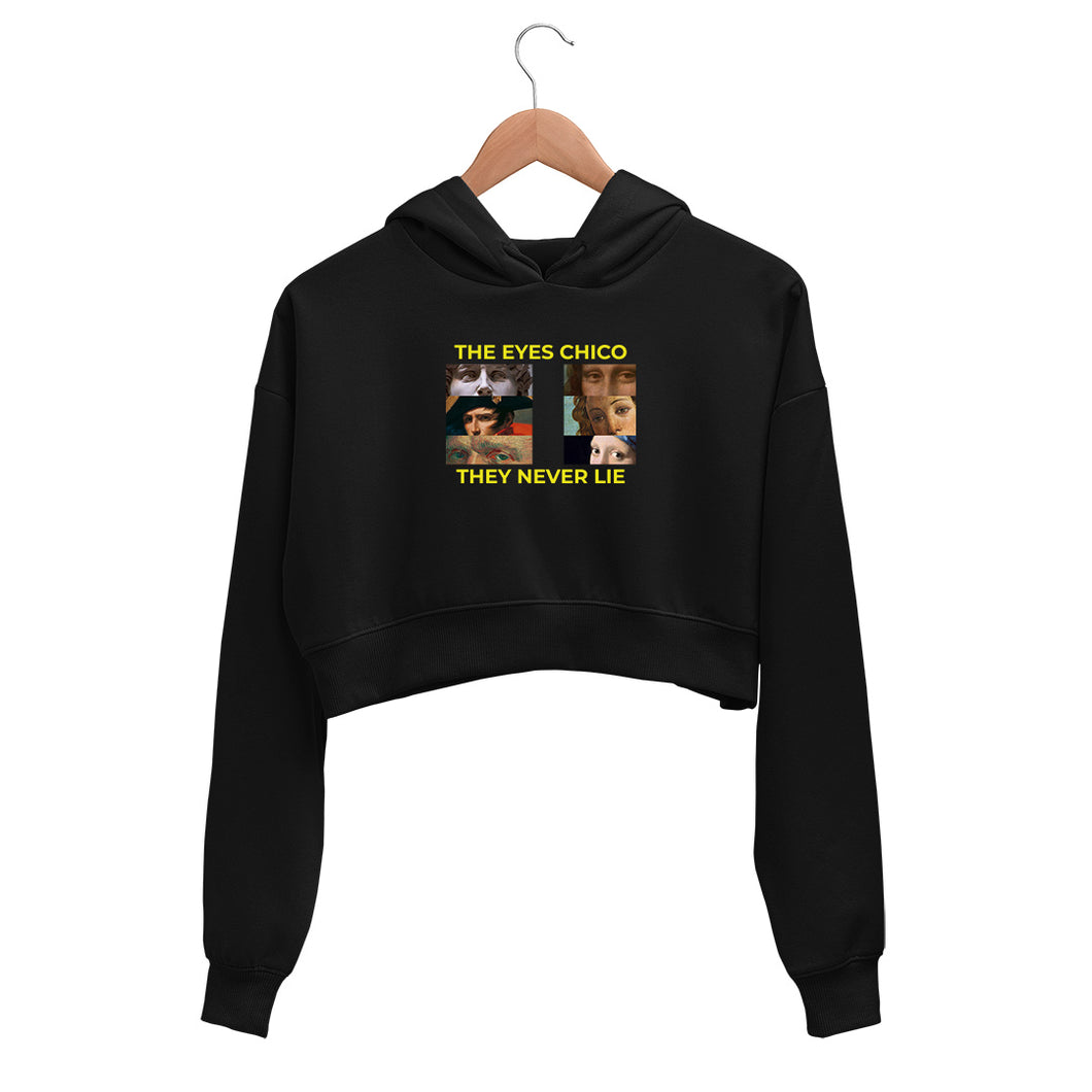 The eyes chico, They never lie Crop Hoodie