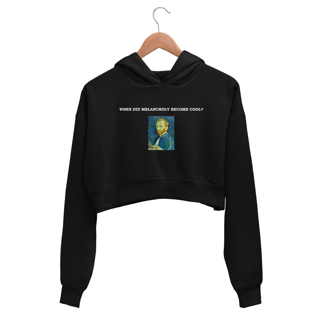 WHEN DID MELANCHOLY BECOME COOL? Crop Hoodie