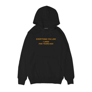Everything you like I liked 5 years ago Hoodie