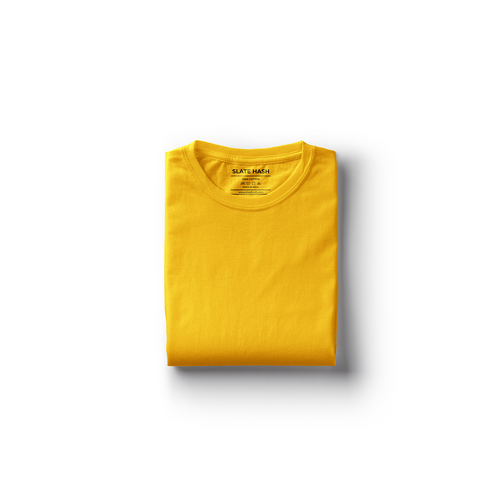 Yellow Plain T-Shirt