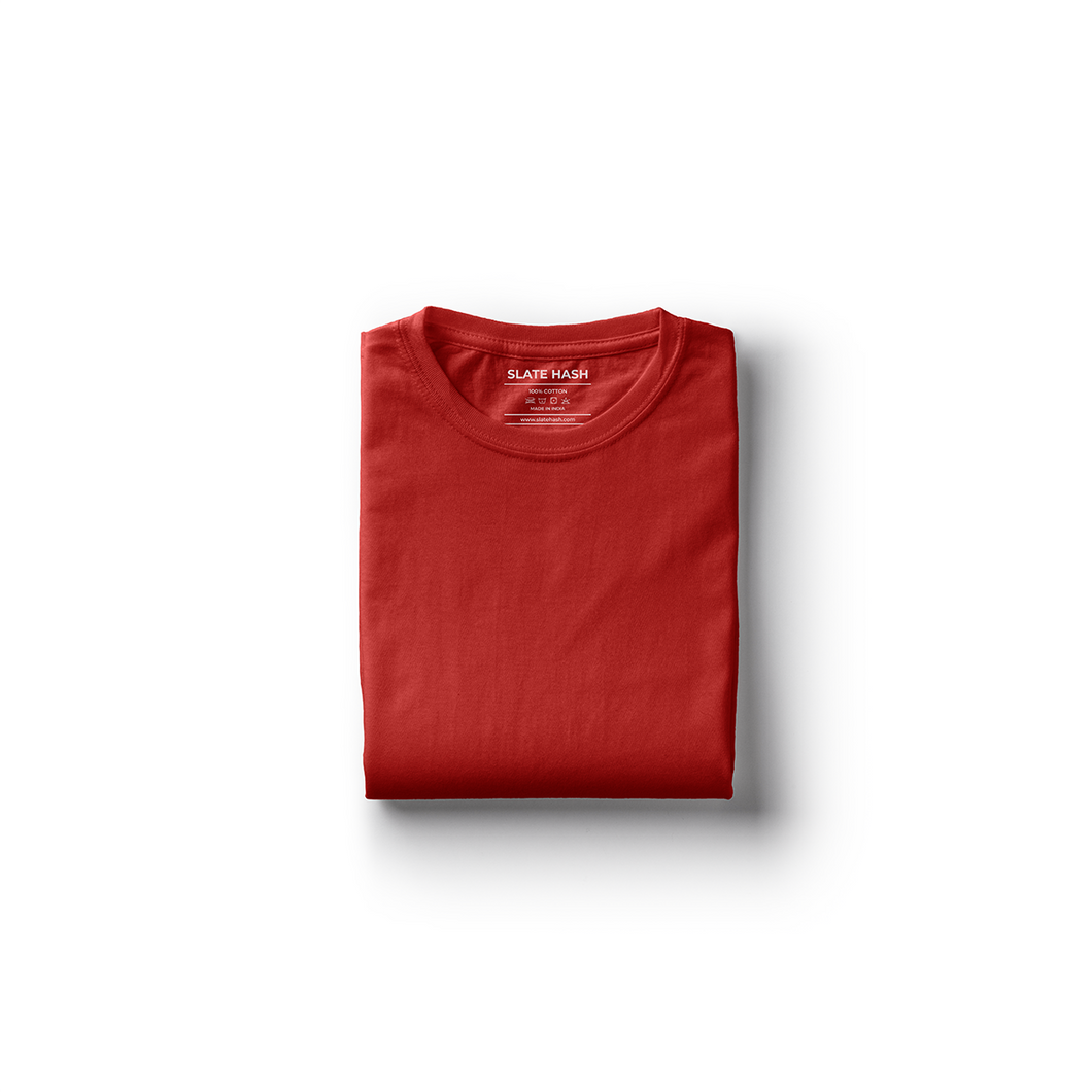 Red Plain T-Shirt