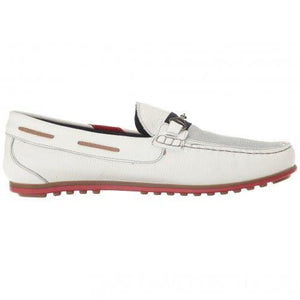 Bacco Bucci Cervi White Loafer (9.5  White)